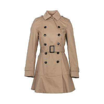 flare line trench coat beige